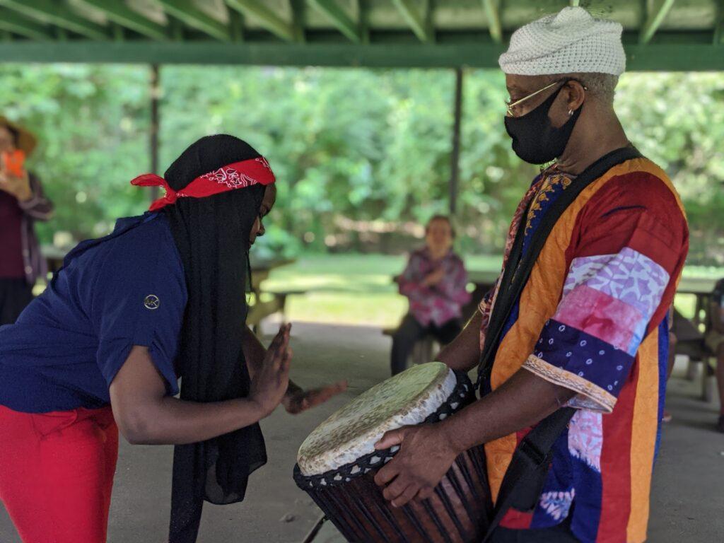 Drumming at GVP Summer Camp